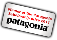 Winner Of Patagonia Scholarship prize 2011
